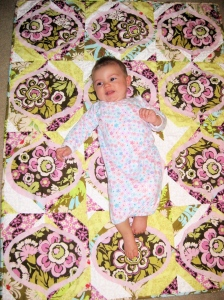 6 Months Old- On Courtney's Quilt