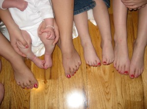 Cousin Pedicures..The First of Many?