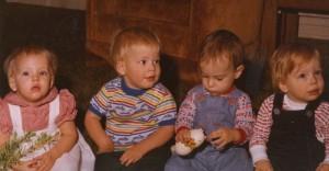 Playgroup 1979: Megan, Tyler, Jacob & Cameron