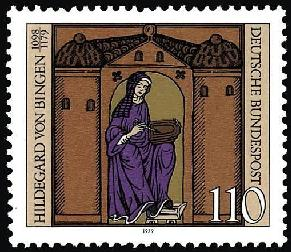 hildegard on stamp