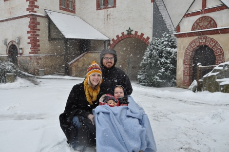 Week 50: First time on a sled- Near Gera, Deutschland with Familie Heiland